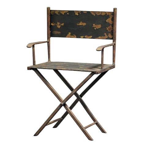 Design Toscano Scaled Metal Director's Chair Sculpture