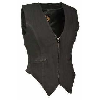 Womens Denim Zip Front Side Stretch Vest (More options available)