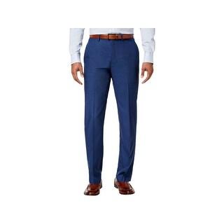 Calvin Klein Mens Dress Pants Slim Fit Slit Pockets