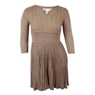 Studio M Women's Ribbed Flared Sweater Dress - xL