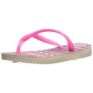 Havaianas Kids' Slim Fashion Sandal Beige/Pink - 23/24 br /toddler (9 m us