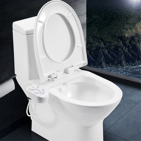 Shop Hot And Cold Water Non Electric Bidet Toilet Attachment Self Cleaning Overstock 31733577