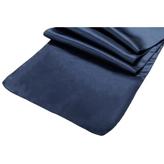 "50 Pieces, Satin Table Runner Approx. 14""x108"" - Navy Blue"