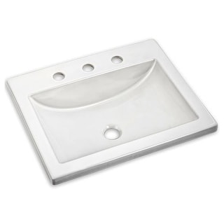 """American Standard 643.008 21"""" Drop-in Bathroom Sink with 3 Hole with Overflow"""