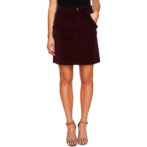 CeCe Womens Mini Skirt Corduroy Ruffled