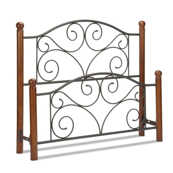 Kotter Home Ariette Metal and Wood Headboard and Footboard. Opens flyout.