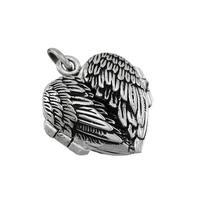 Sterling Silver Winged Heart Locket Pendant
