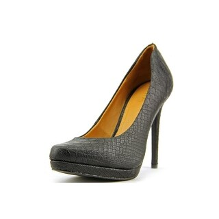 Mia Talia Women Round Toe Synthetic Black Heels