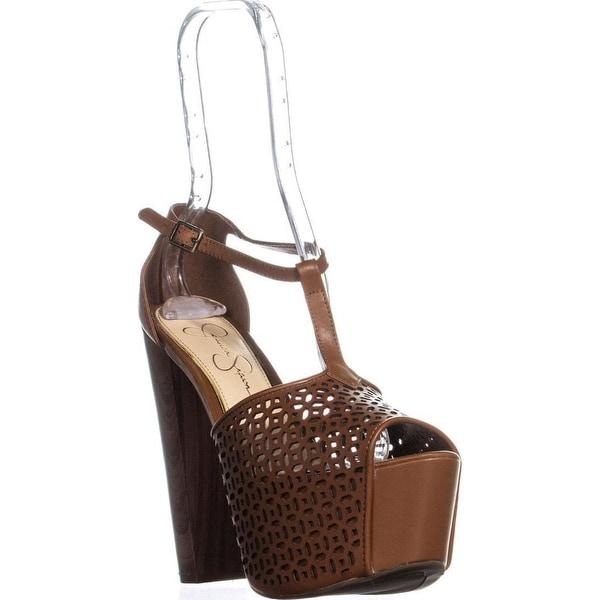 4c339f3f8cf Shop Jessica Simpson Dany5 T-Strap Perforated Platform Sandals ...