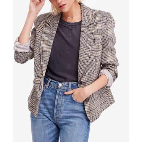 Free People Women's Multi Notch Lapel Single Button Blazer