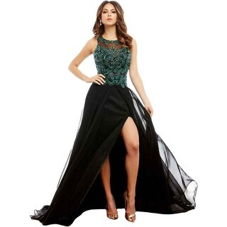 Mac Duggal Womens Formal Dress Chiffon Beaded