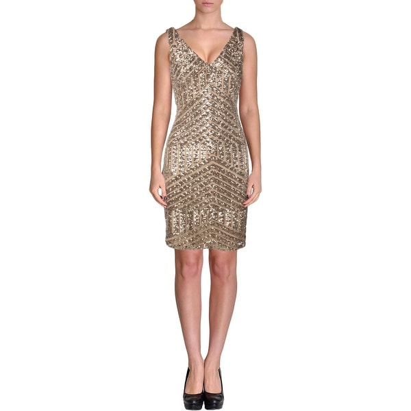 Lauren Ralph Lauren Womens Cocktail Dress Sequined