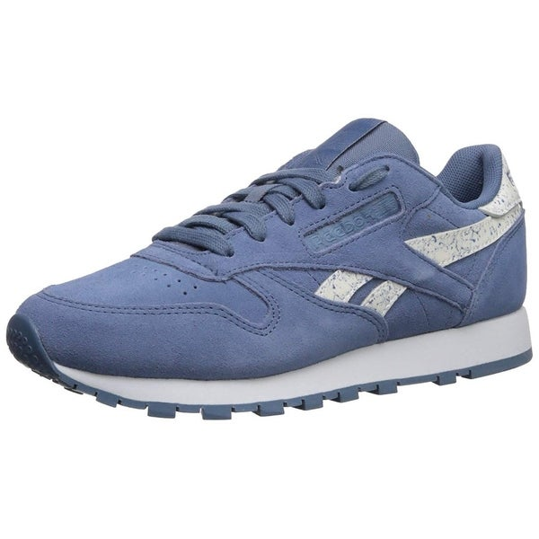 sale retailer dd68d 2a6d9 Reebok Womens Classic Leather Low Top Lace Up Running Sneaker