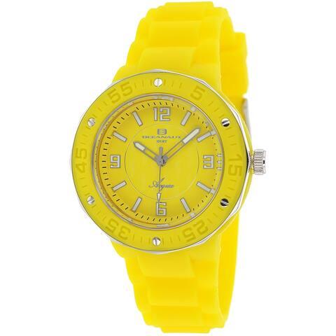 Oceanaut Women's Acqua Yellow Dial Watch - OC0213 - One Size