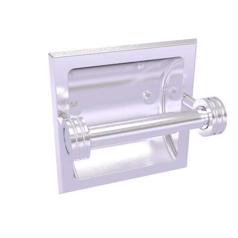 Allied Brass Continental Collection Recessed Toilet Tissue Holder with Dotted Accents