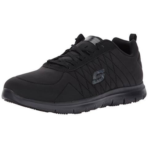 Skechers for Work Women's Ghenter Wide Work Shoe,Black