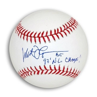 "Milt Thompson Autographed MLB Baseball Inscribed ""93 NL Champs"""