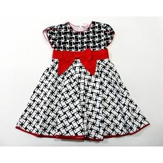 Black White Red Bow Sleeveless Cotton Dress Girls S-XL