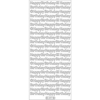 Happy Birthday Peel-Off Stickers-Gold - gold