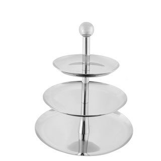 Weeding Party Utensil Stainless Steel 3 Tier Cake Biscuit Fruit Plate Stand