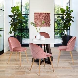 Carson Carrington Saigs Velvet Diamond Dining Chair (Set of 2)
