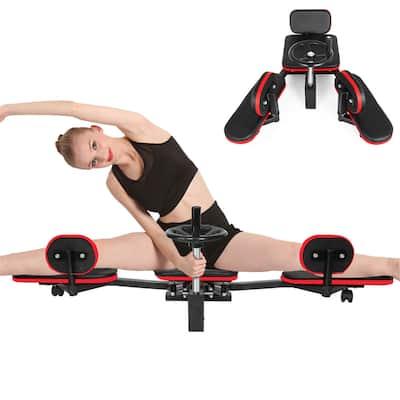 Pro Leg Stretcher Machine 330LBS Leg Stretch Training Heavy Duty Stretching Machine Gym Gear Fitness Equipment (Black and Red)