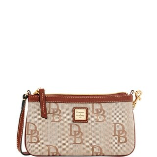 Dooney & Bourke Signature Jacquard Large Slim Wristlet (Introduced by Dooney & Bourke at $78 in Oct 2016) - Brown