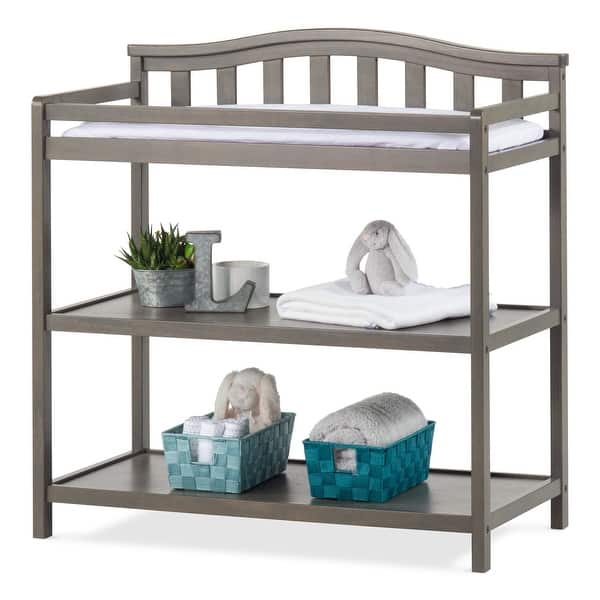 Child Craft Arched Top Changing Table with Pad Dapper Gray