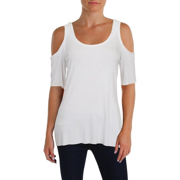 6fddee38ed775 ... 3 4 Sleeve Shirts. Bailey 44 Womens St Thomas Casual Top Embroidered Cold  Shoulder - m