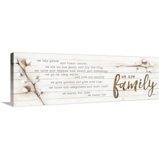 """We are Family"" Canvas Wall Art"