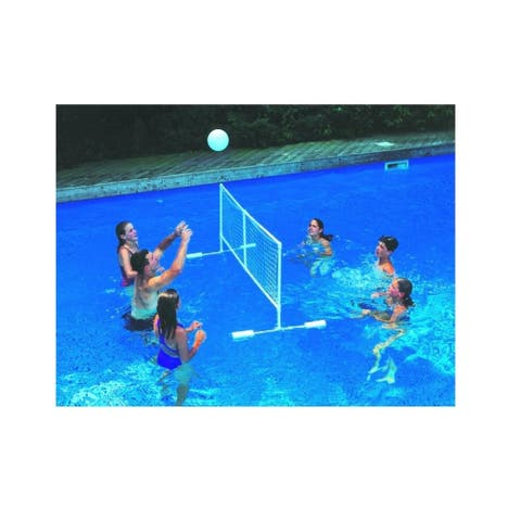 """86"""" White Water Sports Swimming Pool Floating Volleyball Game With Net And Ball"""