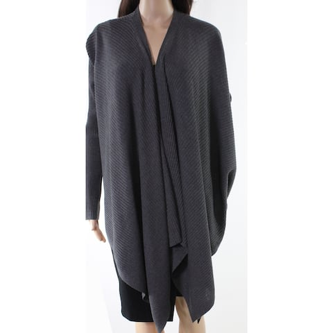 Eileen Fisher Gray Womens Size Small S Ribbed Cardigan Sweater