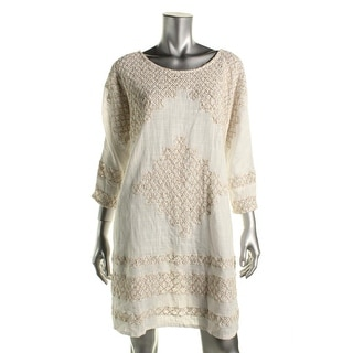 Free People Womens Cotton Embroidered Casual Dress - L