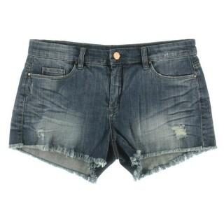 Blank NYC Womens Distressed Cutoff Denim Shorts - 29