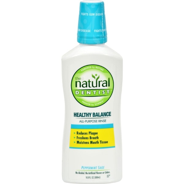 Natural Dentist Healthy Balance All Purpose Rinse Peppermint Sage - 16 fl oz