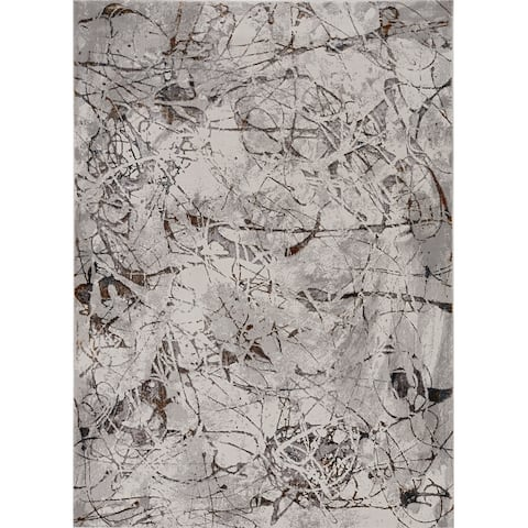 Strick & Bolton Renew Industrial Abstract Area Rug