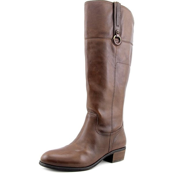 Crown Vintage Sorya Women W Round Toe Leather Brown Knee High Boot