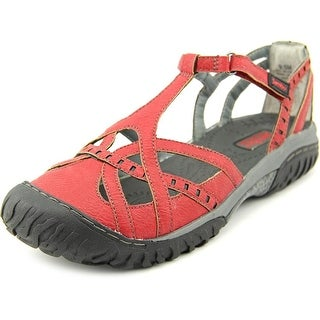 Jambu Gail Women Round Toe Synthetic Red Sport Sandal