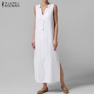 d8709e974a Quick View.  39.37. Zanzea Women Dress 2017 Summer Hot V Neck Sleeveless  Maxi Long Party Dresses Casual Loose Vestidos Plus Size