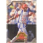 Jon Nunnally Cincinnati Reds 1998 Leaf 50th Anniversary Autographed Card  This item comes with a ce
