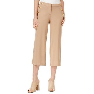 Kensie Cropped Button Detail Pants - M