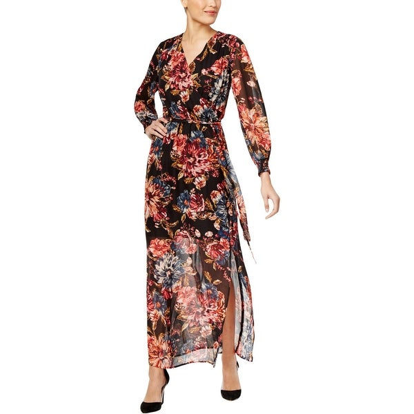 cbd7e82fa945cf Shop ECI New York Womens Maxi Dress Long Sleeves Floral Print - 8 - Free  Shipping On Orders Over  45 - Overstock - 27384749