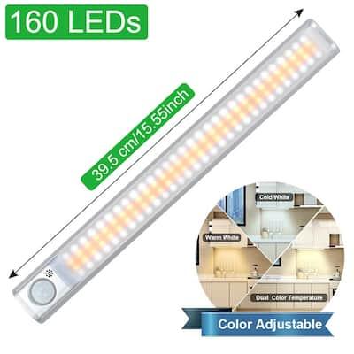 160LED Motion Sensor LED Cabinet Light Three Modes 120-deg Sensing Angle