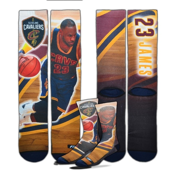 Cleveland Cavaliers Lebron James Center Court 2 Sublimated Socks
