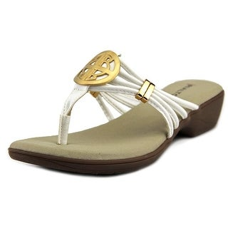 Rialto Kaycee Women Open Toe Synthetic White Thong Sandal