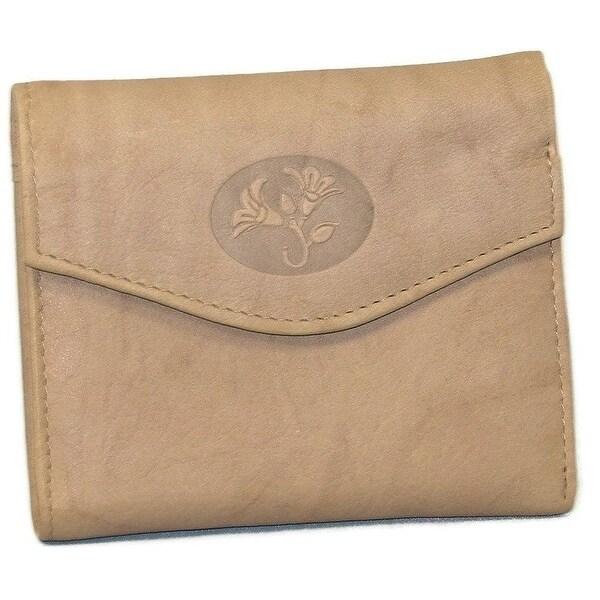 Buxton Women's Genuine Leather Heiress Mini Trifold Wallet