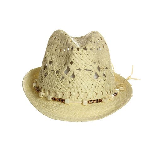 Women Straw Fedora Hat