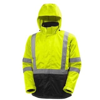 Helly Hansen Work Jacket Mens L/S Alta Waterproof Hi Vis Zip 71088