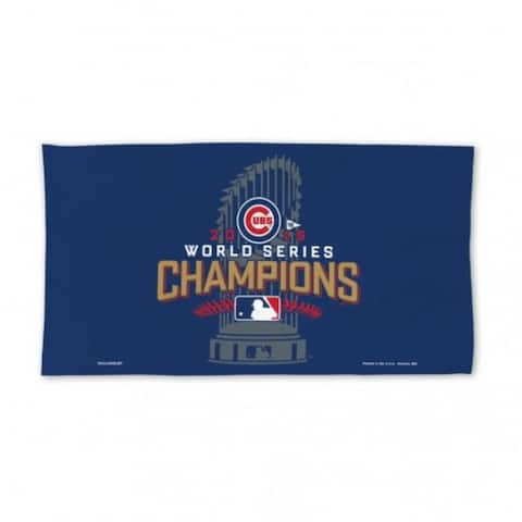 Chicago Cubs Towel 24x42 Locker Room Style 2016 World Series Champs Celebration Design - 24x42