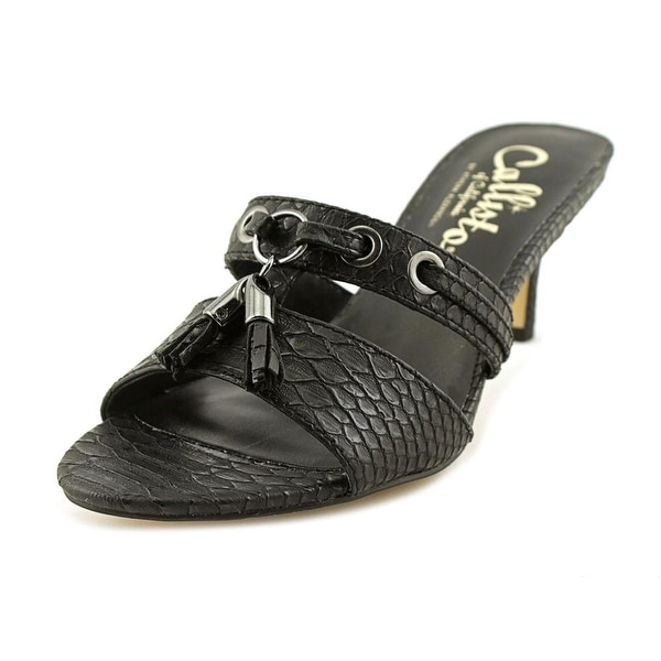 Callisto Jeanet Women US 5.5 Black Sandals